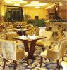 Quattro sedie ed hotel ricoperto di legno solido della Tabella che pranza insieme (FOHCF-8877)