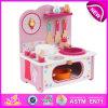 Новый продукт Wooden Toy Kitchen для Kids, Lovely Wooden Kitchen Set Toy для Children, Pretend Toy Kitchen Play Set для Sale W10c096