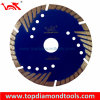 Press caldo Sintered Turbo Diamond Saw Blade con Side Protection Teeth