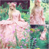 R-144 19 Century Pink Lace Vintage Costume 마리아 Antoinette Gown 1860 년대 Victorian Lolita/Civil War Renaissance Dress Scarlett Dresses All Size