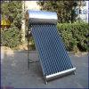 Acero inoxidable de baja presión calentador de agua solar