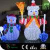 muñeco de nieve de la luz del adorno 3D