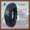 Nylon 6pr schlauchlos, lange Lebensdauer-Motorrad-Gummireifen mit Größe: 350-10tl