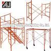 Andamio de marco de acero para la construcción de interiores y exteriores, fábrica de Guangzhou