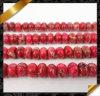 حمراء إمبراطورة حجر كريم [روندلّ] خرزة, مجوهرات حجارة خرز ([غب0110])