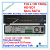 Ayuda completa 8PCS SATA hasta 3tb cada uno del registrador de la vigilancia del CCTV DVR de 4channel 1080P HD Sdi con RS485 PTZ, Ml-9204xh-S1