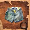 Новые моды женщин повседневная печать короткие джинсы с резинки (HDLJ0004)