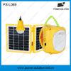 Lanterna solar recarregável da venda quente com o 1 bulbo de suspensão do diodo emissor de luz