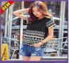 La mode Sexy Coton T-shirt imprimé pour les femmes (W274)