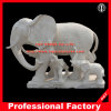 Elefante Marble Sculpture per il giardino \ Fountain \ Home Decoration