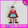 Марионетка шнура нового типа 2016 деревянная, марионетка игрушки тяги младенца высокого качества деревянная, марионетка W02A054 популярного малыша деревянная