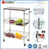 HandelsRestaurant Chrome Metal Serving Basket Trolley für Fruit/Vegetable
