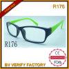 L'assurance du commerce de gros châssis en plastique transparent de lunettes de lecture (R176)