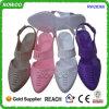 Zapatos acentuados de las sandalias del dedo del pie de la jalea del PVC del verano de la manera de China (RW28366)