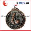 Die Casting placage en alliage de zinc laiton antique Médaille de football de couleur