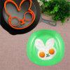 Jogo fritado anel do silicone do molde do ovo do coelho do produto comestível Sy05-01-001