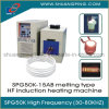 máquina de derretimento Spg50K-15b da indução de alta freqüência de 15kw 30-100kHz