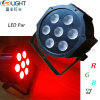 Boîtier en plastique 7*10W RGBW 4en1 fer plat LED Mini peut éclairage de scène.
