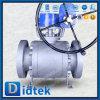 Didtek Kohlenstoffstahl-Kugelventil-Weiche gesetzt mit Endlosschrauben-Gang 150lb