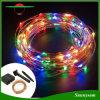 LED 120 Cable de cobre Plata Cadena Solar luz para decorar el jardín de Navidad