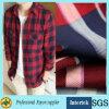 Tissu de rayonne estampé par plaid pour des vêtements de chemise