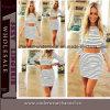 2015 Оптовая торговля Женщины Модные летние Stripped Повседневные платья (TONY 6032)