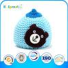 Cappello di inverno lavorato a maglia orso blu per i bambini unisex