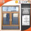 Окно Casement одетого термально пролома твердой древесины алюминиевое, окно Casement Жар-Изоляции алюминиевое с верхним фикчированным кругом