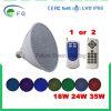 12V, indicatore luminoso cambiante della lampadina della piscina di colore 35W LED PAR56 E27 (controllo dell'interruttore + tipo di telecomando) per la lampada di Pentair Hayward & il raggruppamento di Inground