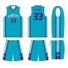 Charlotte Hornets progetta l'uniforme di Sulimation di colore dell'alzavola con il marchio su ordinazione