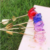 Becautiful Crystal Rosa Flower come Holiday Gifts o Wedding Decorations