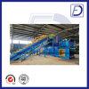 Presse semi-automatique hydraulique horizontale de paille réutilisant la machine