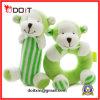 안전 아기 장난감 녹색 원숭이 견면 벨벳 가르랑거리는 소리 아기 장난감