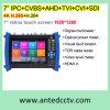 Prüfungs-Bildschirm CCTV-7 für IP-Kamera, Ahd, Tvi, Cvi, SDI