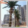 Высокая имитированная пальма даты украшения искусственная серебряная