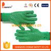 Ddsafety 2017 poids lourds gants vert avec motif peigne en PVC noir