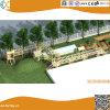 Дворовые открытый приключения деревянная игровая площадка для детей