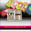 Comercio al por mayor Manicura Pedicura Kit con cuadro de PU
