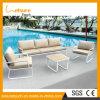 Mobília ao ar livre ajustada do jardim da tabela moderna do lazer do hotel e do sofá de alumínio Home da cadeira