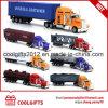 1: 64の卸売亜鉛合金の金属の販売のための容器によってダイカストで形造られるトラックのおもちゃ