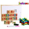 Placa de madeira números matemática magnético educação crianças Stick Brinquedos