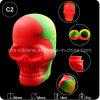 precio de fábrica 15ml Forma del cráneo de silicona FDA Contenedor para el comercio al por mayor