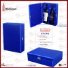2-Bottle Oscuro-azul de gama alta Leather Wine Box (5892)
