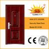Porte en acier extérieure bon marché, cadre de porte en acier galvanisé (SC-S169)
