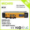 2017 hors-d'oeuvres multi de saut de fonction de port USB neuf de la haute énergie 20800mAh 4 avec l'affichage numérique de DEL