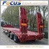 3 essieux 12 mètres de bâti de chargeur inférieur inférieur de /Lowboy/ de paquet de camion de remorque inférieure semi