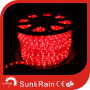 [لد] نيون سلك معزول حبل ضوء مستديرة 2 سلك لون أحمر
