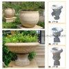 손으로 돌 정원 Flowerpot Granite Marble Vase Carved (YKFP-08)