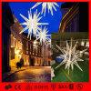 Do motivo comercial ao ar livre da rua do diodo emissor de luz luz ardente enorme da estrela