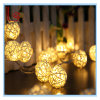 Noël et mariage Décorations de lustres solaires Sepak Takraw Ball Romantic LED Lights String